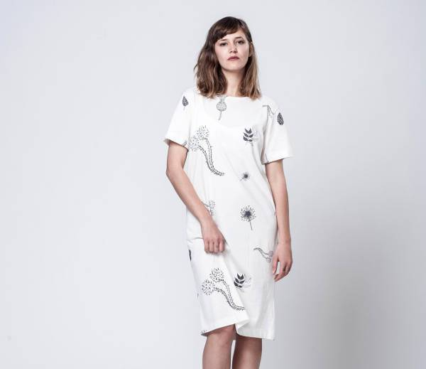 casual white cotton dress