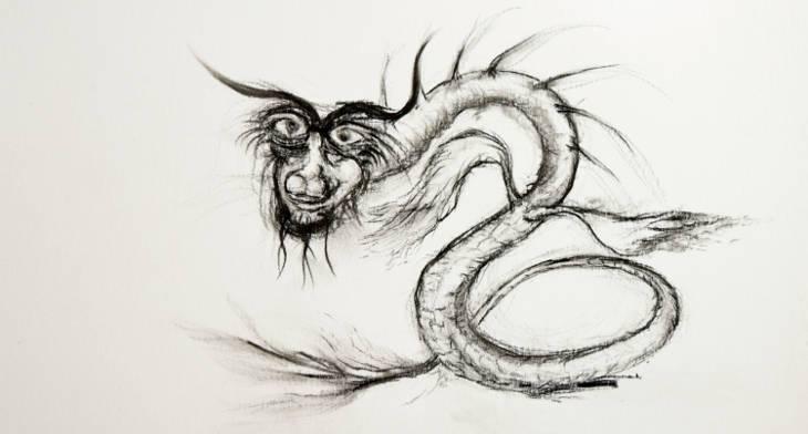 72f1c552d 11+ Dragon Drawings, Art Ideas | Design Trends - Premium PSD, Vector ...