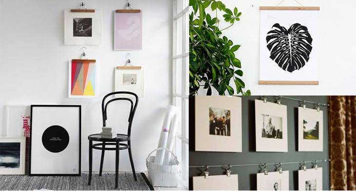 10 Creative Ways to Display The Artwork Sans Frame | Design Trends ...