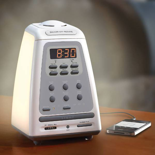hammacher schlemmer peaceful progression wakeup clock