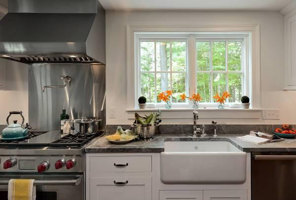 farmhouse kitchen sink faucet design