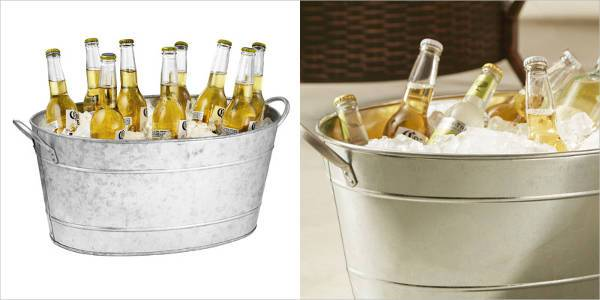 tablecraft galvanized steel beverage tub