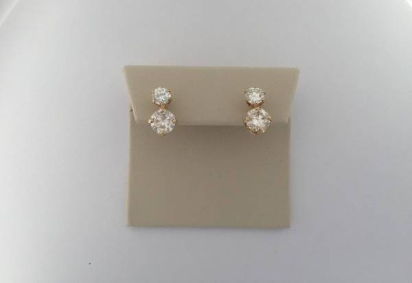 brilliant cut diamond solitaire earrings
