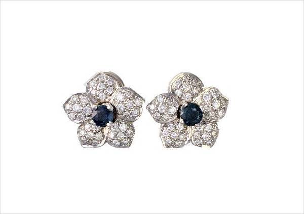 awesome diamond flower earrings