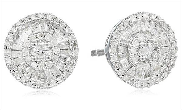 classy round diamond earrings