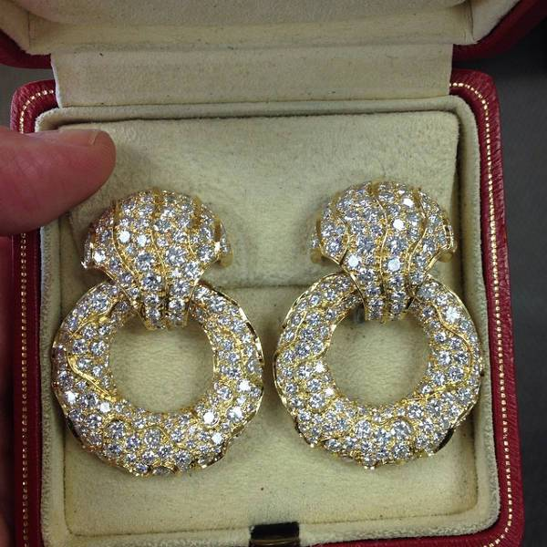 vintage diamond festive earrings