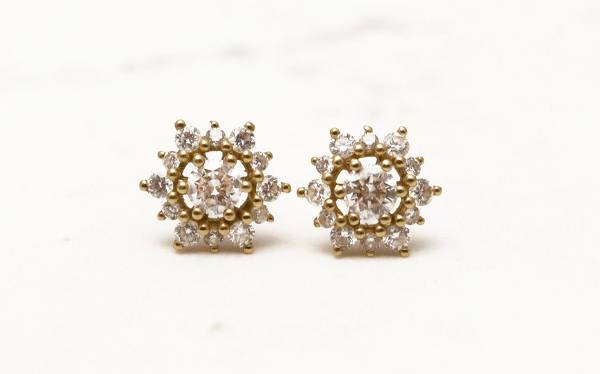 cool snowflake diamond earrings