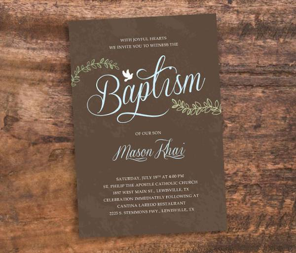 awesome diy baptism invitation