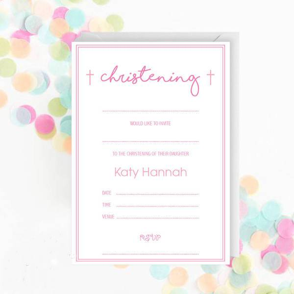 beautiful blank baptsim invitation