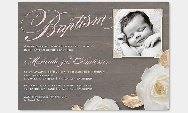 best photo baptism invitation