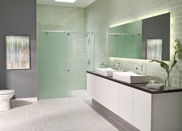 simple glass shower door