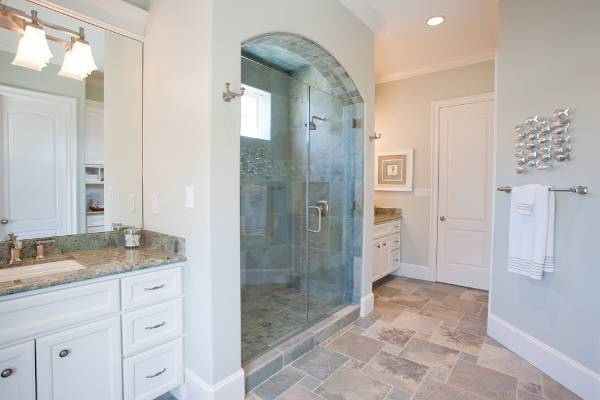 simple arched shower door