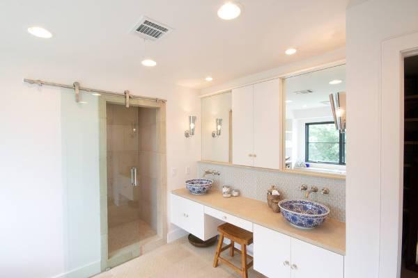 contemporary sliding shower door