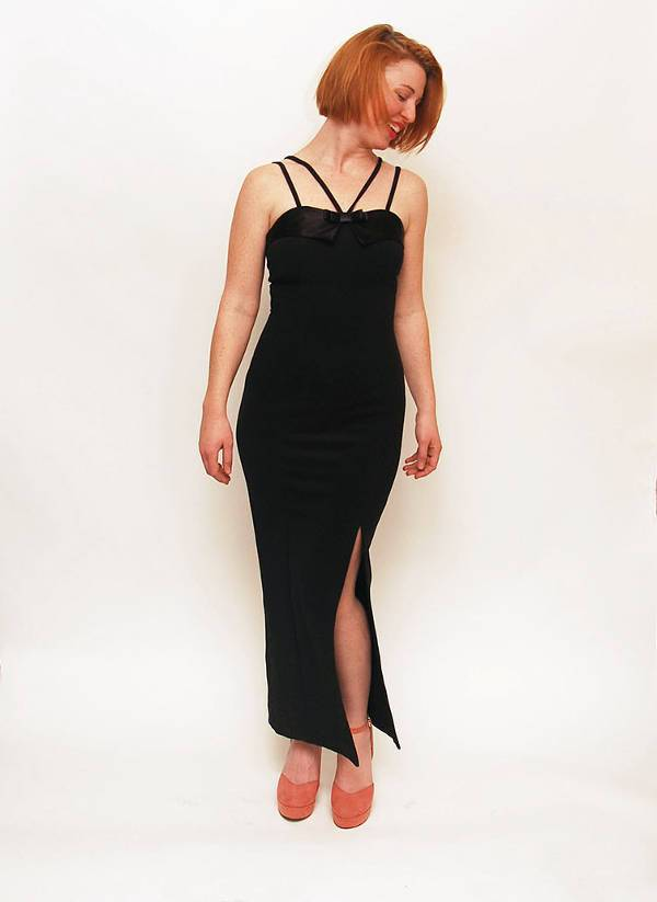 vintage black bodycon dress