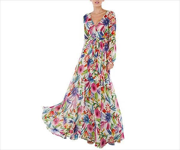 vintage chiffon maxi dress
