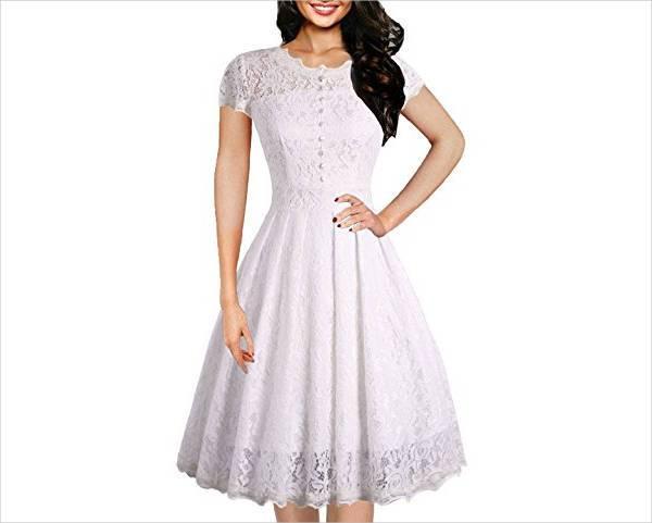 white lace vintage dress