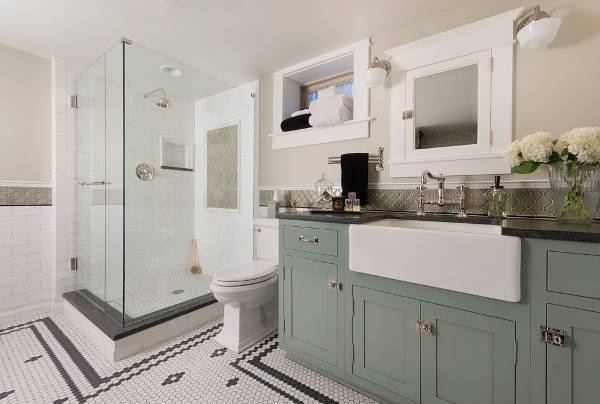 traditional small bathroom cabinets