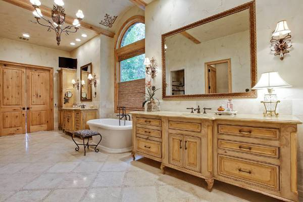 rustic floor bathroom cabinets