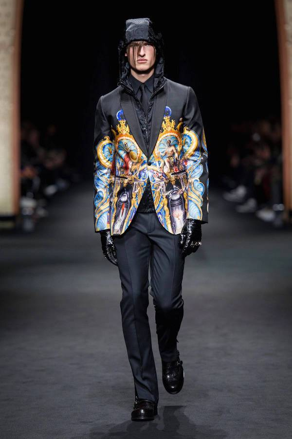 graphic printed blazer