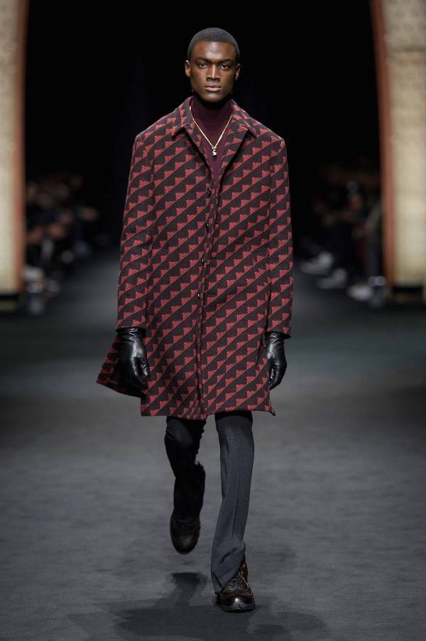 graphical patterned coat