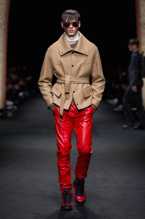 cream brown coat