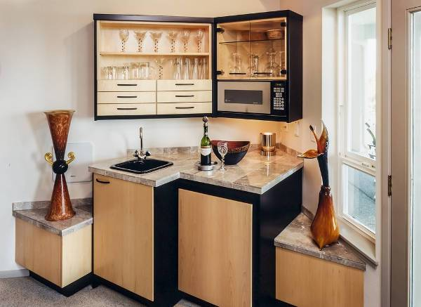 contemporary mini bar cabinets