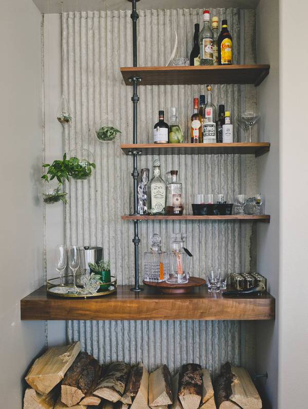 rustic diy bar cabinets