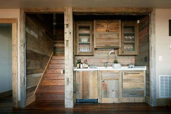 rustic wood bar cabinets