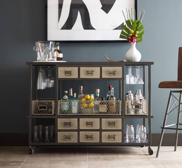 small rolling bar cabinets