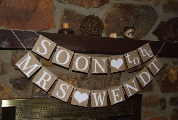Rustic Handmade Bridal Shower Banner