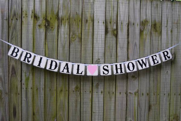 simple rustic bridal shower banner