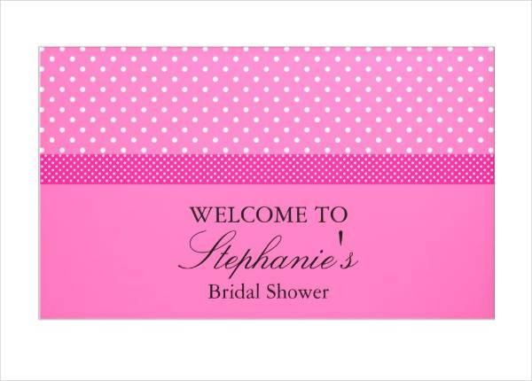 bright pink bridal shower banner