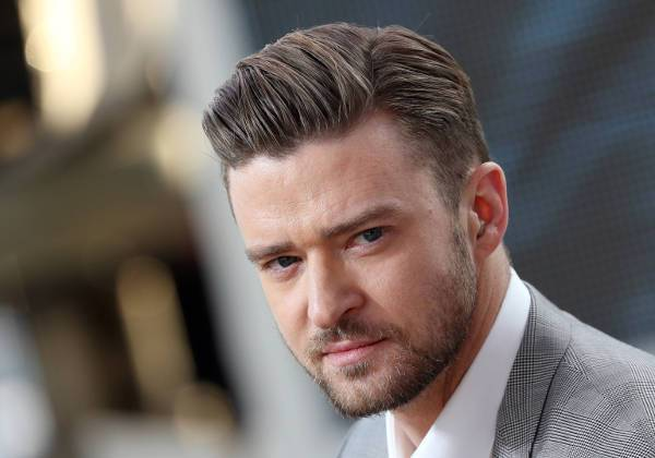 justin timberlake comb over low fade haircut