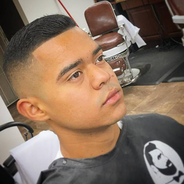 comb over fade for short hair
