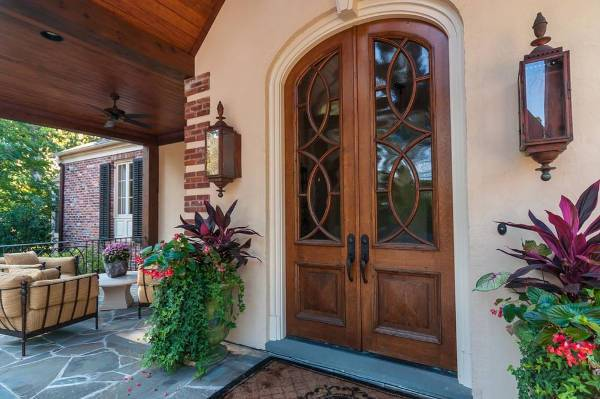 traditional double front doors