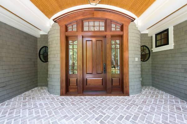 classy wood front door design