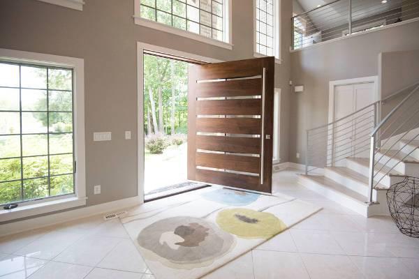 modern wood front door design
