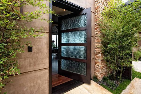 contemporary front glass door