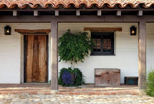 rustic wood front door design