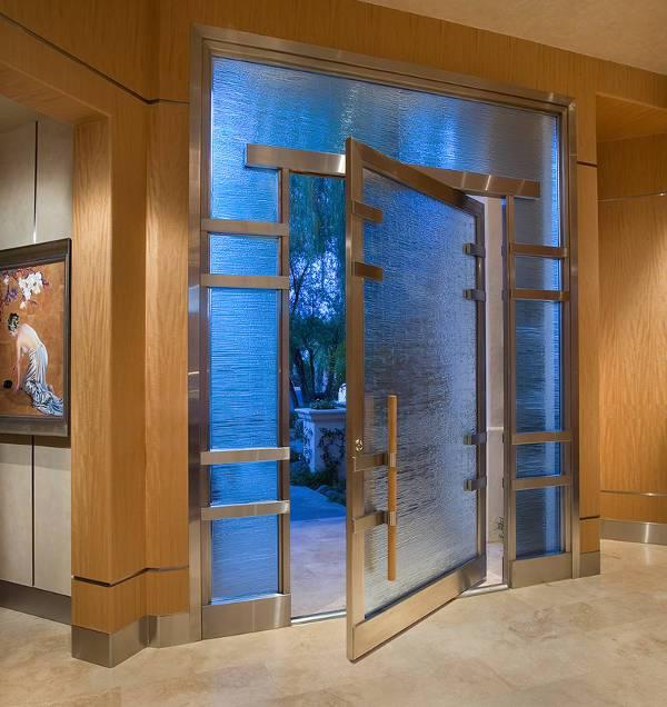 luxury glass front door