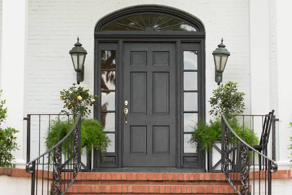 vintage stained front door