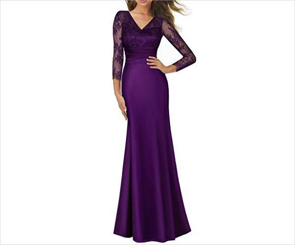 16 wedding guest dress designs ideas design trends for Purple maxi dresses for weddings