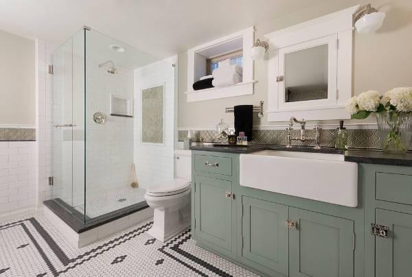traditional farmhouse bathroom sink
