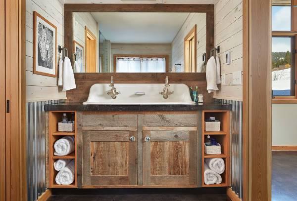 rustic bathroom vanity sink