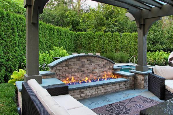 open patio fire pit idea