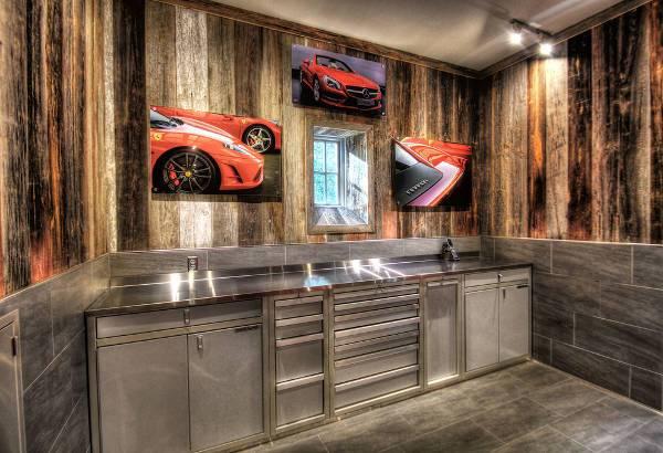 rustic garage floor cabinets