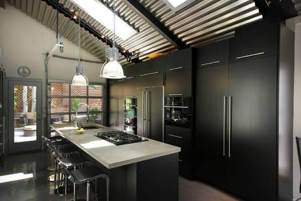 contemporary garage kitchen cabinets