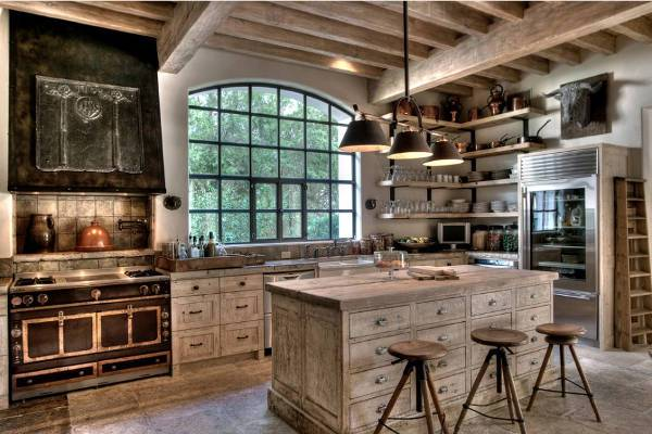 rustic style kitchen1