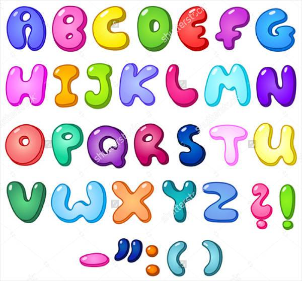 3d bubble alphabet font
