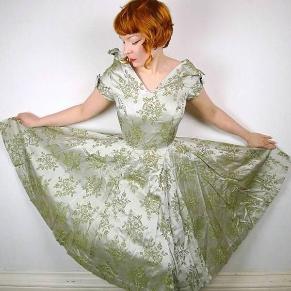 vintage floral evening dress